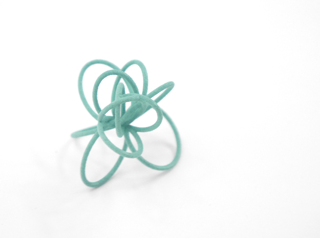 Flora Ring B (Size 8) 3d printed Custom Dyed Color (Teal)