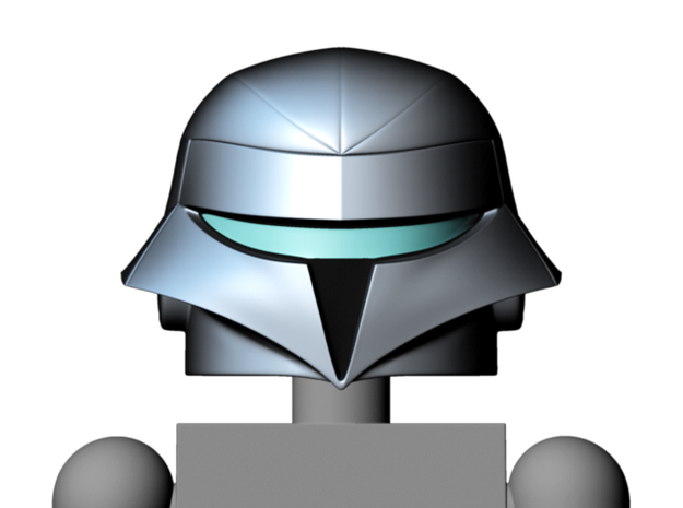 Quicksilver helmet (w/ mask) for Minimates 3d printed