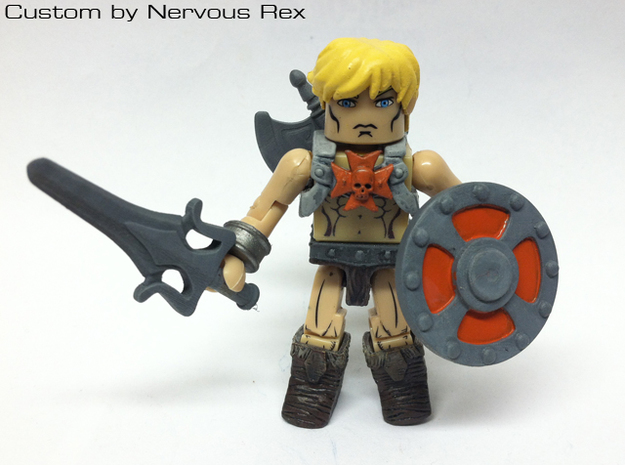 Power Sword scaled for Lego 3d printed Custom Minimate by Nervous Rex