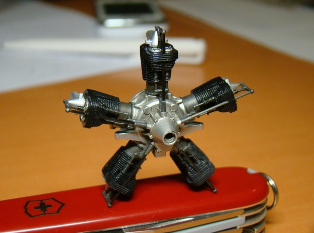 1/20 scale Viale aero engine 3d printed finisehd engine - another view