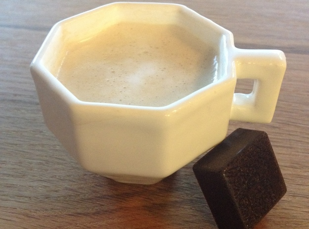 Low polygon espresso cup 3d printed