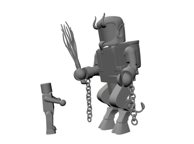 Goat Legs for Minimates 3d printed Shown with Krampus accessories
