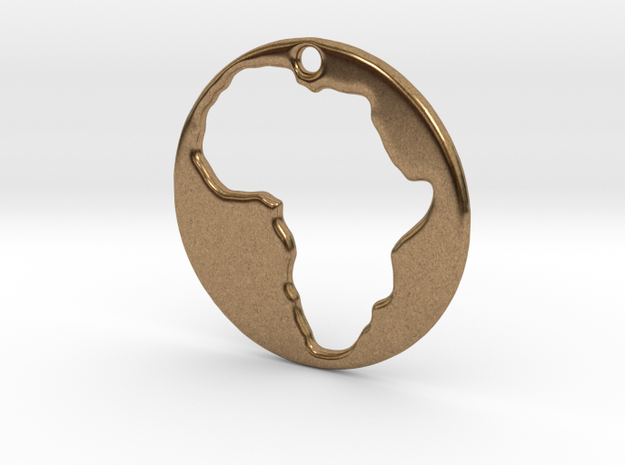 Pendant of Africa (5cms) 3d printed