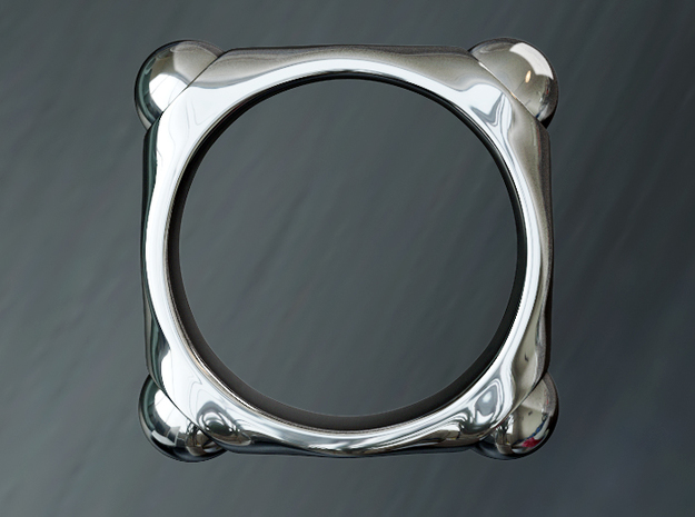 Quoc - Ring - US 9 - 19 mm inside diameter 3d printed Polished Silver PREVIEW
