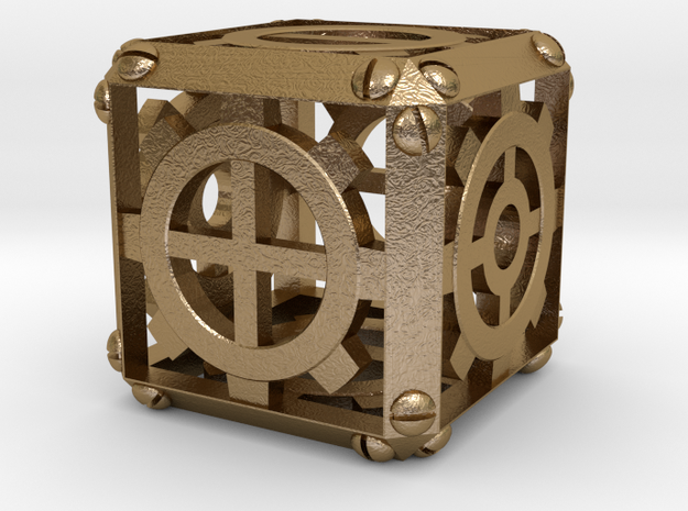 Steampunk Fudge d6 3d printed