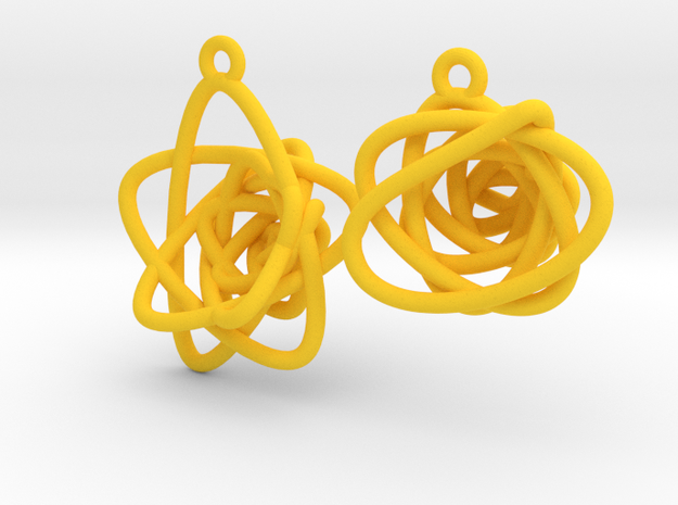 Sprouted Spiral Earrings 3d printed