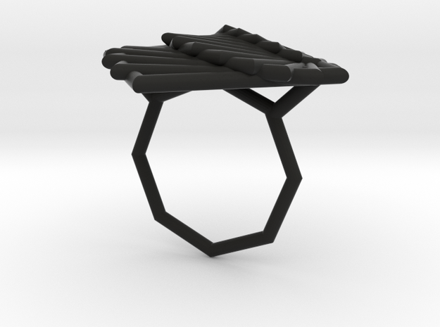 Arithmetic Ring (Size 6) 3d printed