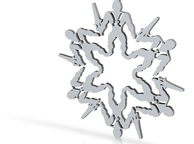 Snowflake He-Man Ornament 3d printed