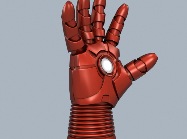 Iron Man mk III - Cuff 3d printed WRIST ONLY-ENTIRE right hand show