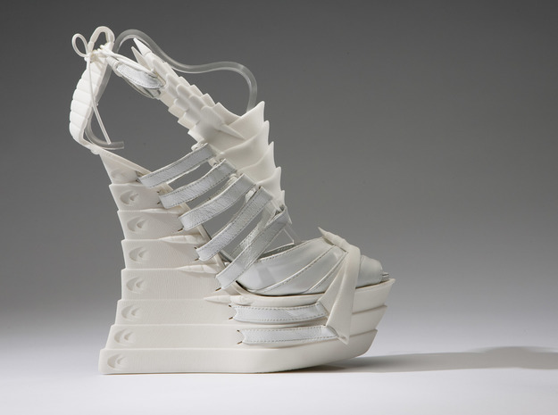 Janina Alleyne - Scorpion Shoe (Top) 3d printed