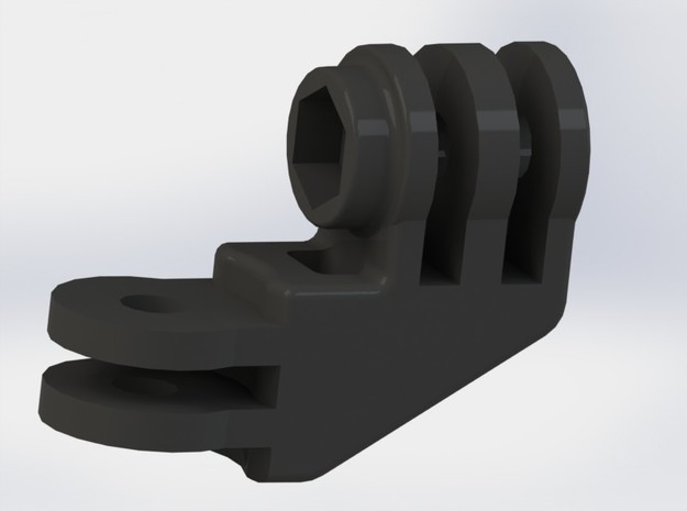 GoPro Compact 90 Degree Elbow Mount 3d printed A rendering of the Elbow Mount