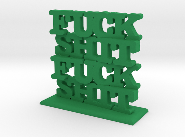 Fuck Shit Stack 3d printed