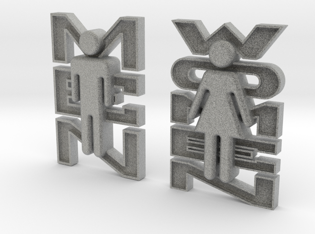Bathroom Signs 3d printed