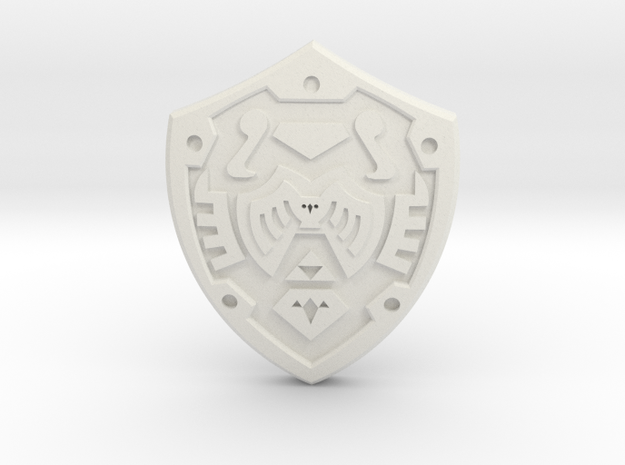 Hero's Shield I 3d printed Painted Frosted Ultra Detail