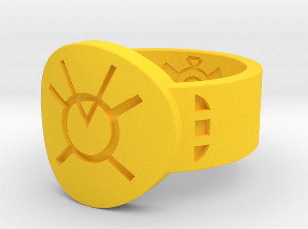 Orange Avarice FF Ring Sz 15 3d printed