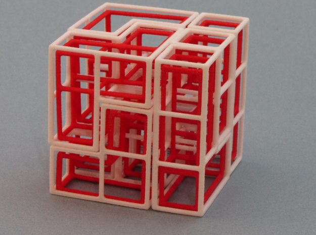 """SOMA's Revenge"" - Interlocking Puzzle Cube 3d printed One of many ""Easy Cube"" solutions"