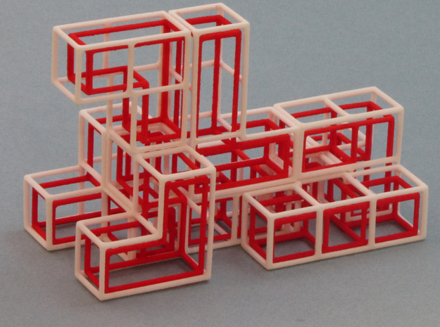 """SOMA's Revenge"" - Interlocking Puzzle Cube 3d printed The Dog - One of hundreds of figures to build"
