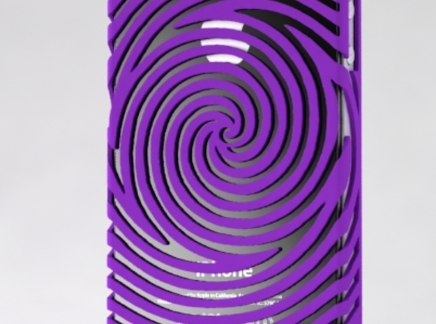 IPhone 4/4S - Swirl Case 3d printed