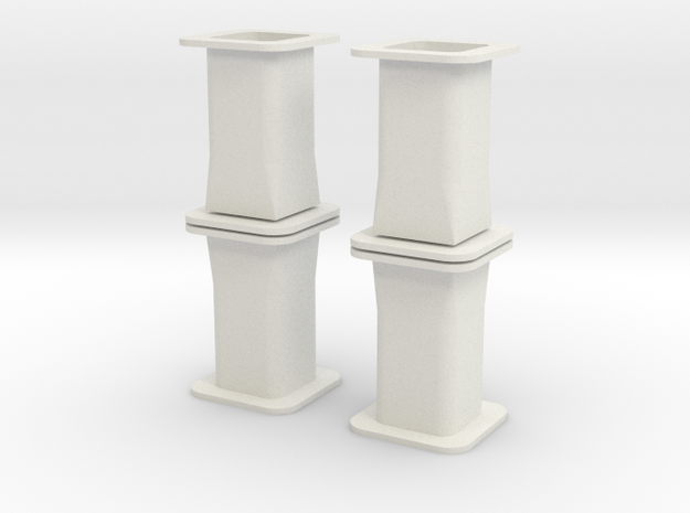 HO/1:87 Precast concrete bridge column set 3d printed