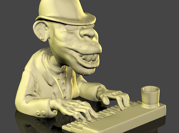 The Piano Man 3d printed