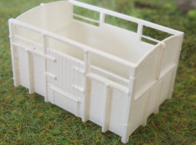 GS CATTLE VAN KIT set of six 3d printed Assembled and Undercoated