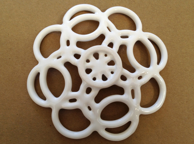 Circles Soap Dish 3d printed Bottom view