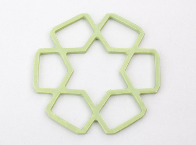 A Tileable Coaster 3d printed Tileable Coaster in Avocado Green Ceramics
