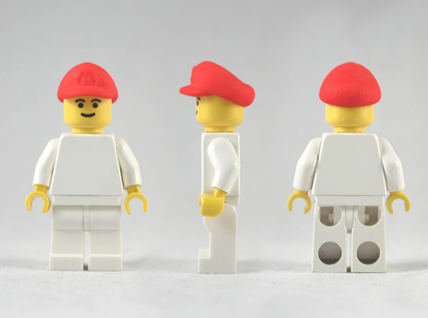 M-Plumber Cap 3d printed Red Strong & Flexible Polished