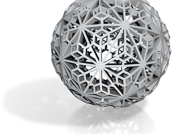 Glass ceramic metal Sphere_d1 3d printed