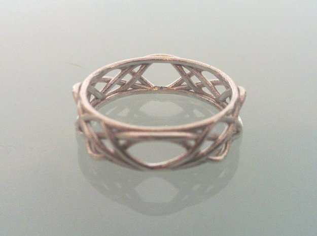 Sine Ring Irregular 3d printed Ring printed in silver.