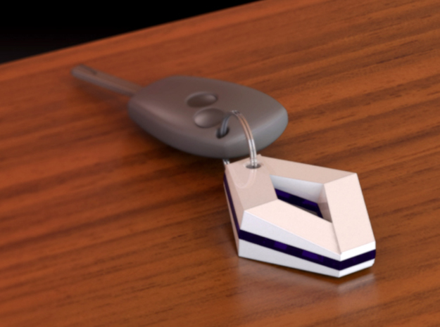 Renault keychain 2 3d printed A possible color configuration