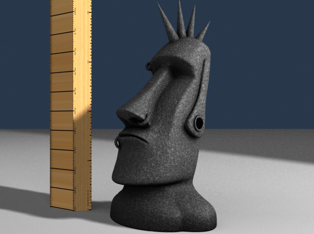 MoaiPunkHeadStatue 3d printed