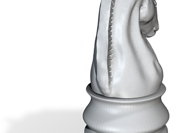 Chess Knight Earring Individual 3d printed
