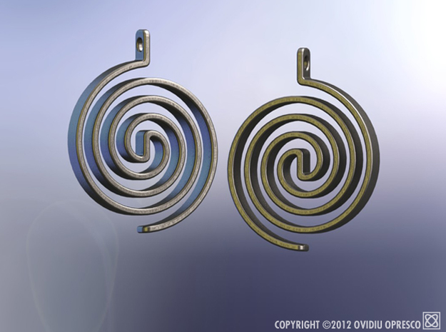 Archimedean Antenna Earrings 3d printed