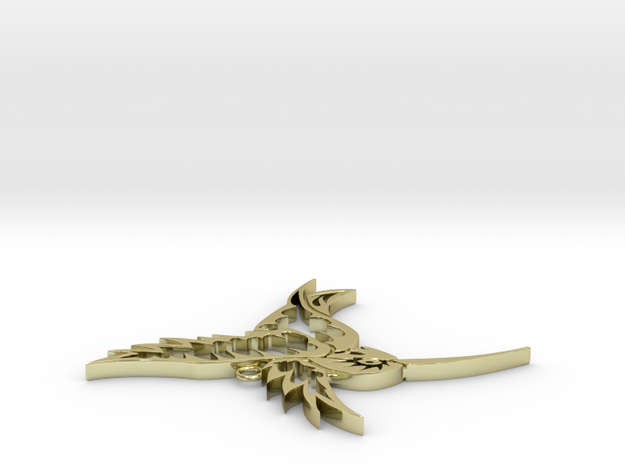 Tribal Hummingbird pendant 3d printed