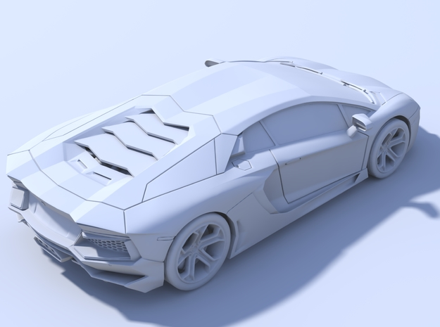 150mm - Hollow: Lamborghini Aventador 3d printed