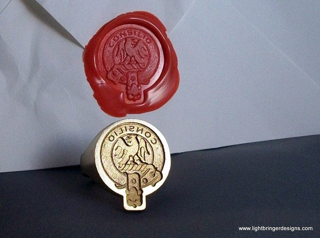 Custom Signet Ring 3d printed Scottish Crest badge custom signet ring.