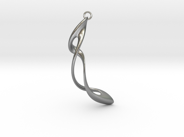 Earring: Twisted loop - 5 cm 3d printed