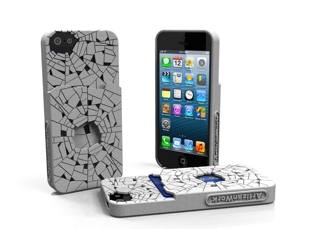 "iPhone 5 - ""Shattered"" Case with Pocket 3d printed"