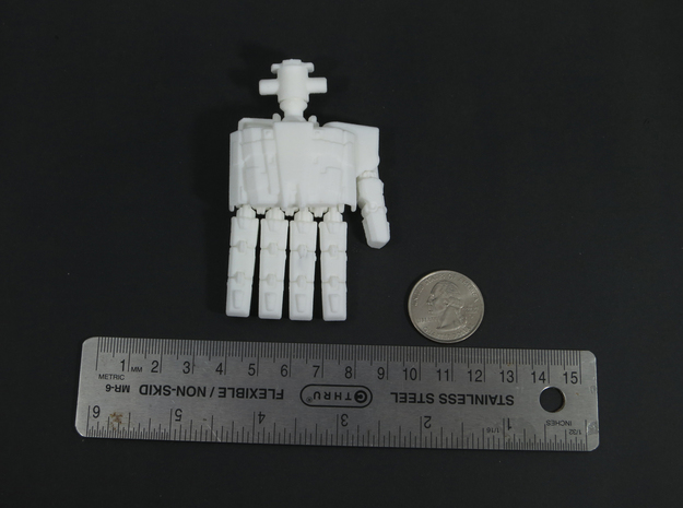 M variant - Extremely Enormous Extremities 3d printed 68mm long, 40 mm wide.