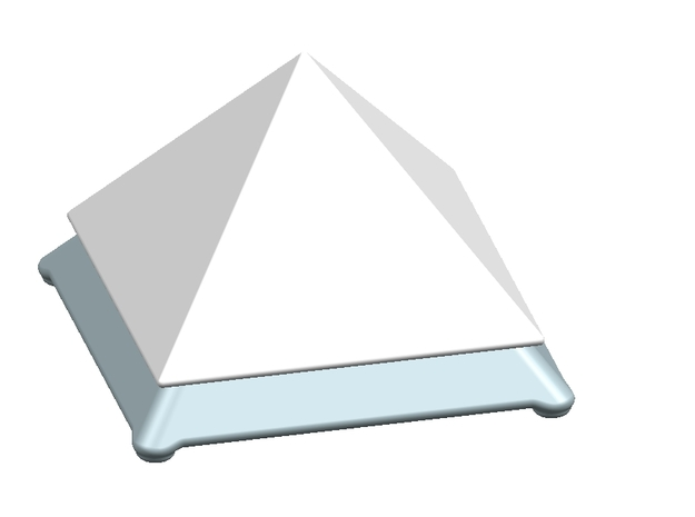 Base for Ceramic Pyramid 10cm Height 3d printed