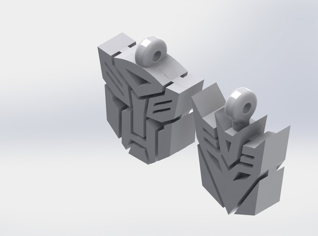 Transformer Earrings 3d printed