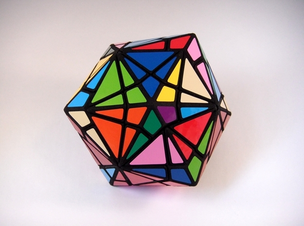 Fractured Cube Puzzle 3d printed Multiple Turns