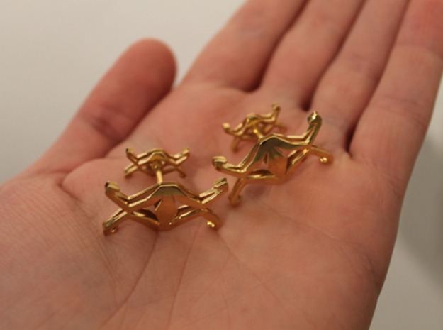 """Head to Head, UNION"" Cufflinks 3d printed"