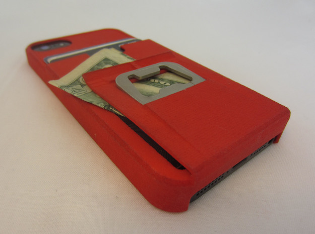 iphone 5 tank case with bottle opener, clip, walle