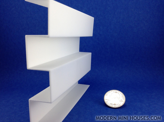 Zipper Room Divider 1:12 scale Bookshelf 3d printed