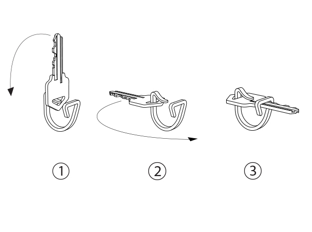 Keon V1*, a ring that holds your key(s) 3d printed How to put a key on