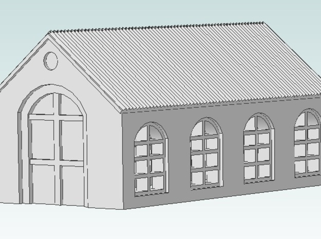 Small Warehouse (Black Detail) 3d printed