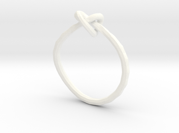 Love Knot Ring 3d printed