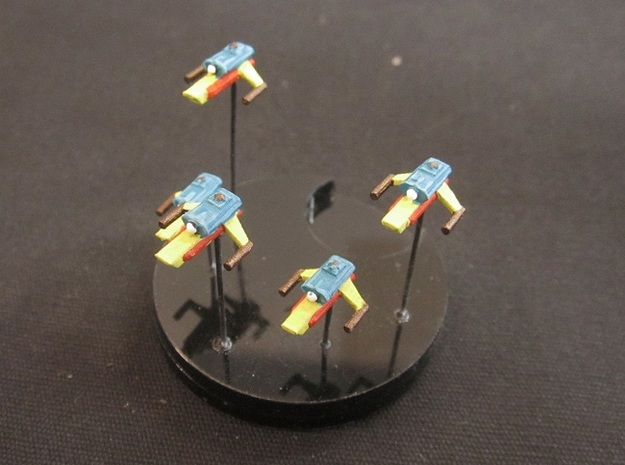 10 Reptilian assault craft 3d printed Painted and based